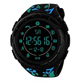 Smartwatch, Rugged 33-Month Standby Time 24h All-Weather Monitoring Step Counting Exercise Wrist Watch by Balakie(C,One Size)