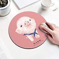 ウルトラソフト ゲーミングマウスパット テーブルマット ホームオフィス用,かわいい 漫画の動物 マウスパッド,ラウンド アートデザイン マウスパッド 女性と女の子のために