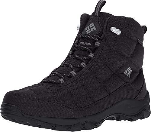 Columbia Men's Firecamp Boot Hiking Shoe, Black, City Grey, 14 D US