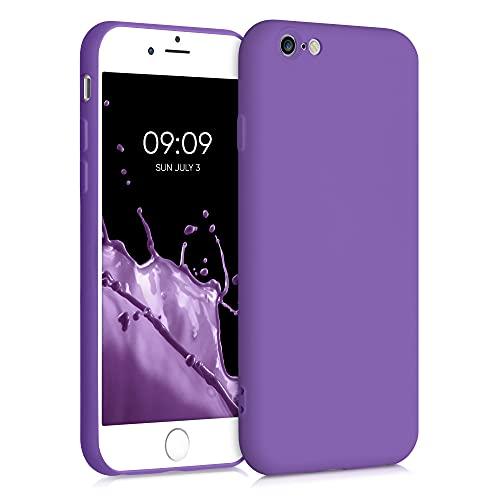 kwmobile Custodia Compatibile con Apple iPhone 6 / 6S - Cover Silicone Gommato - Back Case Protezione Posteriore Cellulare - Viola Ametista