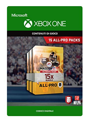 Madden NFL 17: 15 All-Pro Pack Bundle   Xbox One - Codice download