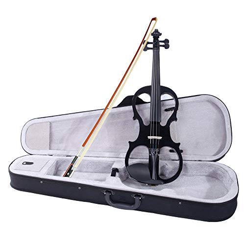 Takefuns 4/4 Electric Silent Violin Case Bow Rosin Headphone Connecting...