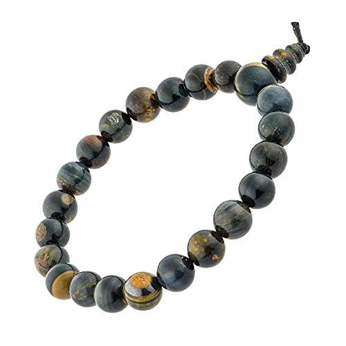 Bracelet œil de faucon bouddhiste pierres naturelles 100% - pierre et élastique de qualité résistant - Marque Française – homme femme – satisfait ou remboursé!