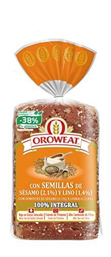 Oroweat - Pan De Molde Semillas De Sésamo Y Lino, 18 Rebanadas, 680 g