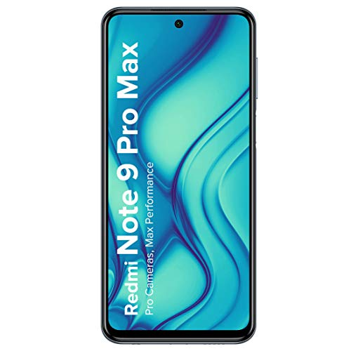 Redmi Note 9 Pro Max (Aurora Blue, 6GB RAM, 64GB Storage)- 64MP Quad Camera & Alexa Hands-Free