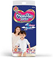 MamyPoko Pants Extra Absorb Diaper - Extra Large Size (12 - 17 kg), Pack of 78 Diapers