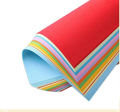 100 Hojas colore origami papel,Cartulina de colores Papel para impresión A4 210 * 297mm,20 Colores Papel para Origami,Grosor de 70g/m²,Para Proyectos de Artes y Oficios e Impresión