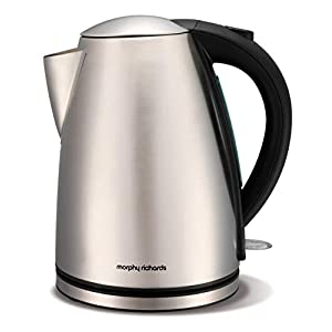 Morphy Richards 43615 Fast Boil Jug Kettle, Stainless Steel, 1.7 Litre