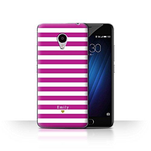 Stuff4Phone Case/Cover/Skin/mzum3s/Custom Stripes/Striped Collection Coeur/Fuchsia Rose
