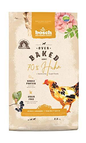 bosch HPC Oven Baked Huhn | Im Ofen gebackenes Hundefutter für ausgewachsene Hunde aller Rassen | Single Animal Protein | Grain-Free | 1 x 2.5 kg