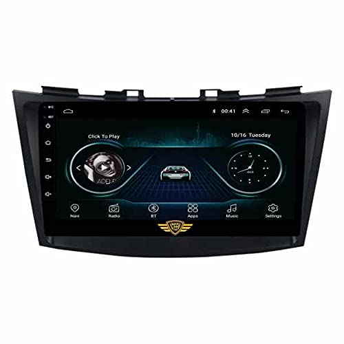"""Ateen Suzuki Swift Type-2(2011-17), 9"""" inch Double din Android Music System/Player/Stereo with 2GB Ram/16GB ROM/Bluetooth/Navigation/USB/Radio System/Split Screen/Mirror Link Support iOS/Android"""