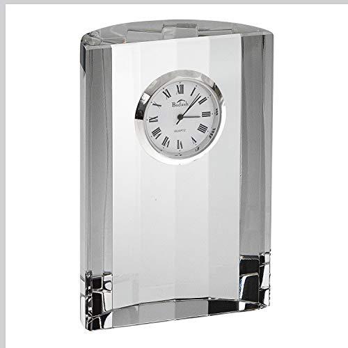 Badash Crystal - Half Moon Crystal Clock 4.5 by 3.5 Inch
