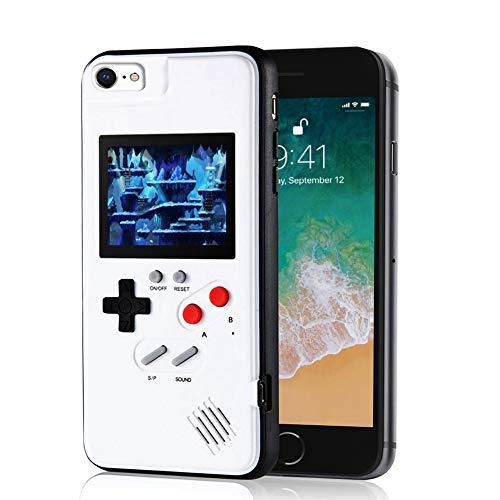 Elekpopu Game Case für iPhone 6,6s,7,8, Retro 3D Game Hülle mit 36 klassischen Spielen (Weiß)