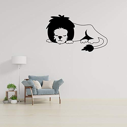 Inspirational Quotes Wall Decals Word Wall Sticker Quotes Monogram Stickers Inspirational Saying Wallpaper Home Decor Lion Lying Down Black Drawing Wing PVC Wall Sticker Decal for Living Room Bedroom