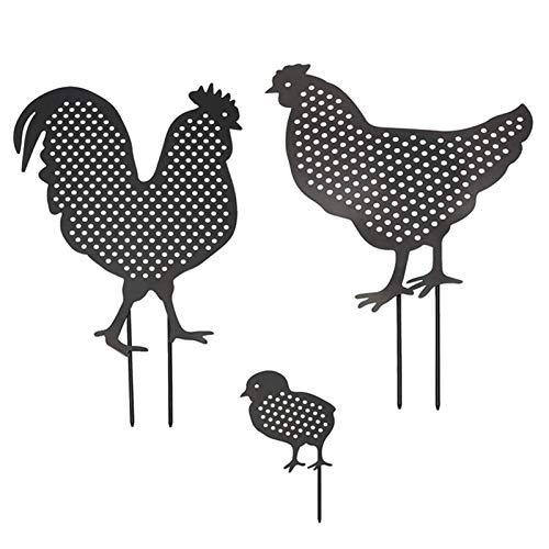 Chicken Yard Art Statue, Garden Lawn Decoration Ornament, Cock Hen, Chick Garden Decoration