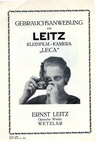 Gebrauchsanweisung zur Leitz Kleinfilm-Kamera Leca