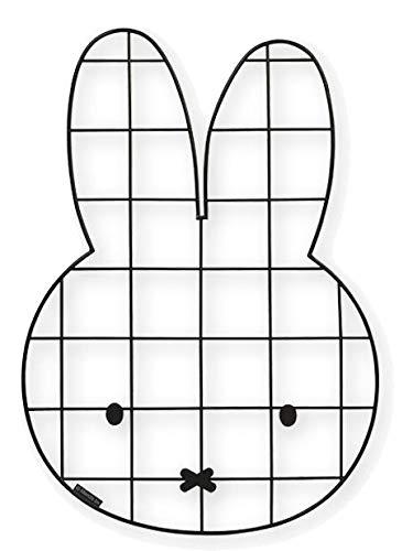 BAMBOLINO TOYS Miffy Gitterpinnwand für Baby- und Kinderzimmer, schwarz 33166
