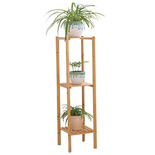LXYZWJ Plantenstandaard en bloempot van bamboe, voor binnen en buiten