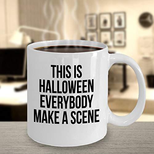 Halloween scene geest heks wolf dood kostuum partij eng gezicht grappige truc of behandelen bedrukt koffie mok cadeau ideeën souvenir 183 j