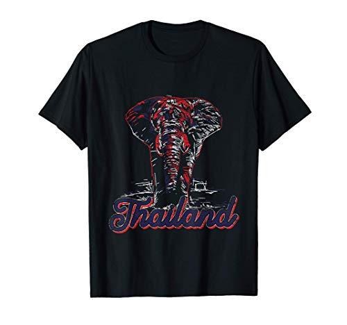 Asien Elefant Thailändische Flagge Thailand T-Shirt