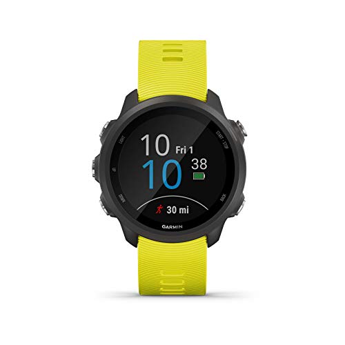 Garmin Forerunner 245, GPS Running Smartwatch with Advanced Dynamics, Yellow (International Version)