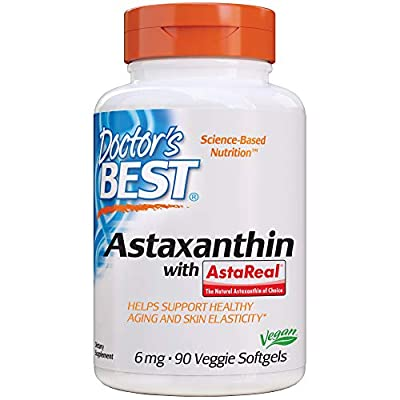 Doctor's Best Astaxanthin with AstaPure, 6mg, 90 Vegetarian Softgels by Doctors Best