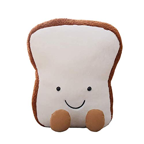 Zhenwo Toast Soft Toast Toy 3D Simulation Creative Fun Bread Shape Cushion Toast Stuffed Doll for Baby Children and Adults Gift Or Home Decor Toy,25cm