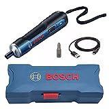 Parafusadeira a Bateria Bosch Go 3,6V BIVOLT com 1 Bit PH2, Cabo USB em Maleta
