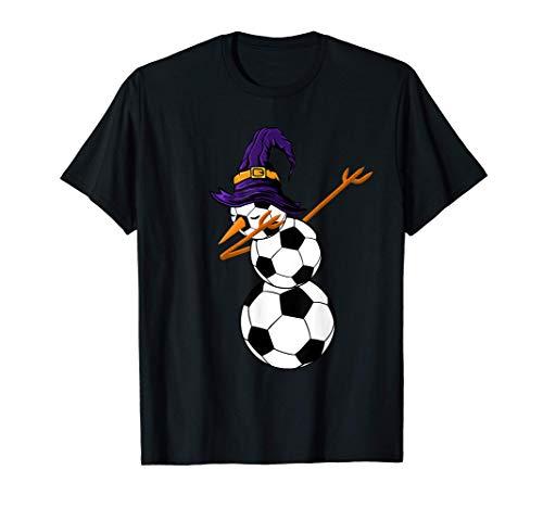 Jugador de fútbol con un divertido disfraz de Halloween que Camiseta