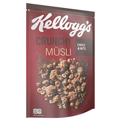 Kellogg's Crunchy Müsli Choco & Nuts | Knuspermüsli mit Schokogeschmack | Einzelpackung | 500g