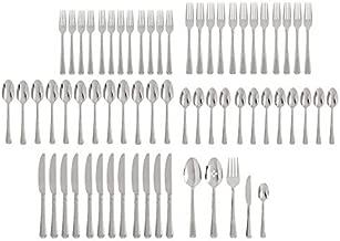 Oneida Chroma 65 Piece Fine Flatware Set, Service for 12 , 18/10 Stainless Steel, Silverware Set, Dishwasher Safe