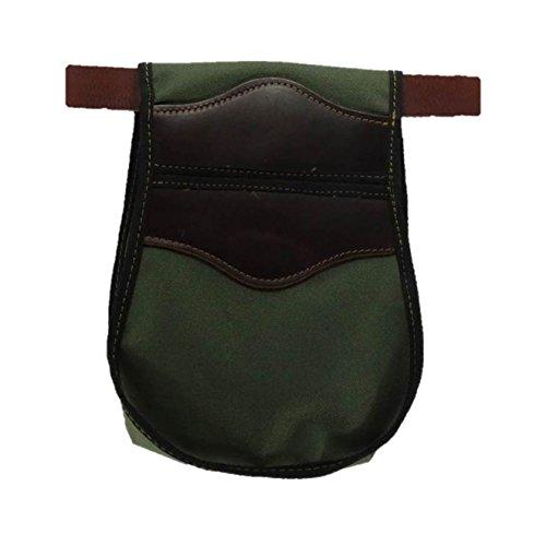 CAZA Y AVENTURA Una Bolsa de ojeo-Bolsa portacartuchos en Cordura Lona Verde, para Llevar en el cinturón. para 50 Cartuchos