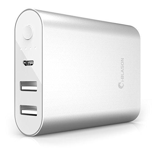 i-Blason [Aero Power] 7800 mAh externe accu, compacte oplader, draagbare powerbank voor iPhone, iPad, Samsung Galaxy en andere Apple-en Android-apparaten Power Bank batterij + 2 jaar garantie (zilver)