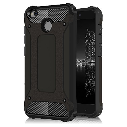 Funda Rígida para Xiaomi Redmi 4x  TPU   2 piezas   Antigolpes   en Negro