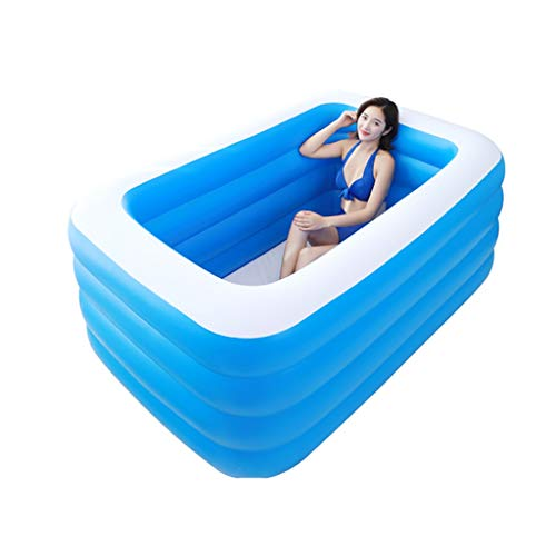 YULAN Aufblasbare badewanne verdickung Erwachsene badewanne extra großen Haushalt doppel aufblasbare badewanne Falten Kunststoff körper kann sitzen liegen Bad Barrel, faltbar, dick und langlebig