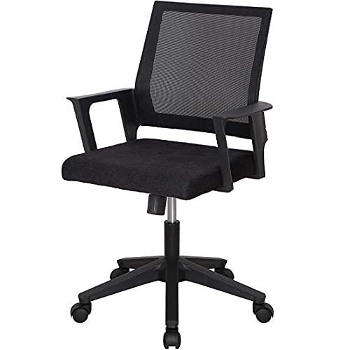 Cómoda silla de oficina para el hogar, color negro