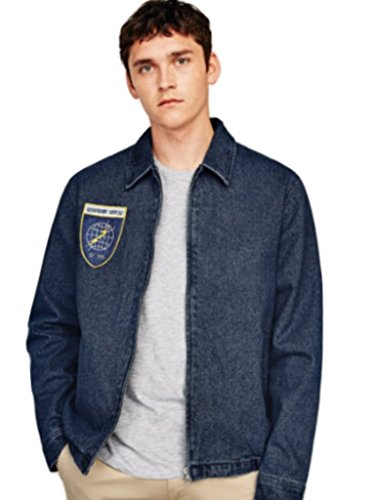 Zara Denim Jacket with Patch L BNWT Blue