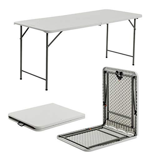 Table tréteau pliante - pour les évènements - goupilles de sécurité solides - supporte un poids de 400 kg - 180 cm