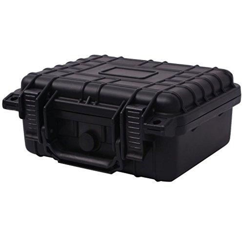 vidaXL Universalkoffer 27x24,6x12,4 cm Schwarz