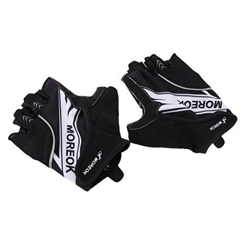 D dolity antideslizante guantes de bicicletas mitad Dedos bicicleta de montaña guantes sport Guantes con transpirable Red, color Blanco, tamaño extra-large