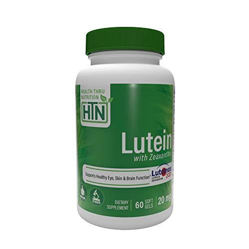 Luteina 20mg 60 Mini Softgels senza soia Non-OGM (come Lutemax 2020) (60)