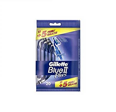 Gillette Blue II Plus Disposable Razors - Pack of 20 by Procter & Gamble