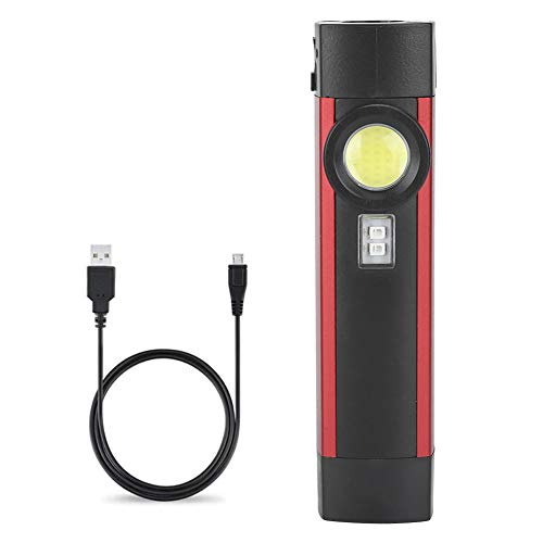 LED UV Taschenlampe Inspektionsleuchte USB Wiederaufladbare UV Lampe COB Arbeitsleuchte Mini Taschenlampen 4 Modi mit Schwarzlicht, Magnet und Stiftclip, für Camping, Reparatur, Bergsteigen, Nachtlauf