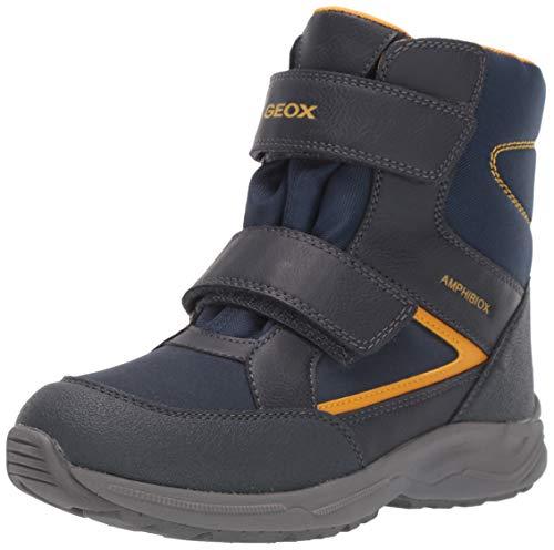 Geox Jungen J KURAY BOY B ABX A Schneestiefel, Blau (Navy/Yellow C0657), 31 EU