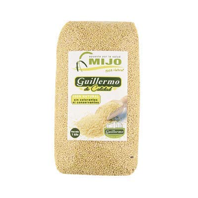 Guillermo- Semillas de Mijo Peladas- Gran Fuente de Nutrientes- Ingredientes 100 % Mijo- 1 Kilogramo