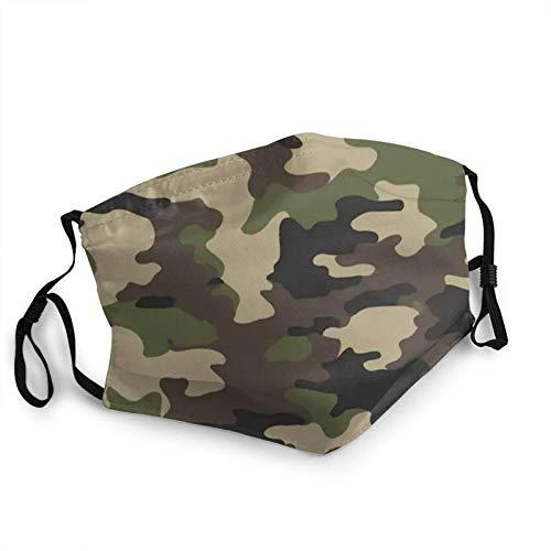Mundschutz,Gesichtsschutz,Camouflage Military Abstract Camo Mundschutz,20CM X15CM