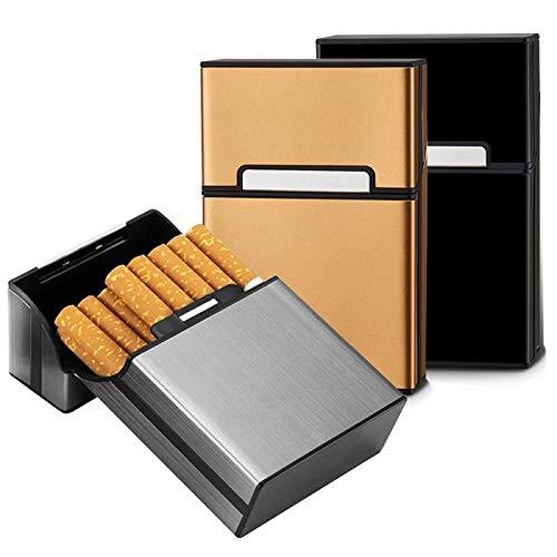 Zigarettenbox,Zuzer 3 Stück Zigarettenetui Metall Zigarettenschachtel Box Zigarettenkasten Zigarettenhülle mit Magnetverschluss für 20 Zigaretten
