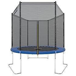 Ultrasport outdoor garden trampoline jumper, TÜV Nord GS certification, complete trampoline set including jumping mat, safety net, padded net post and edge cover, weatherproof