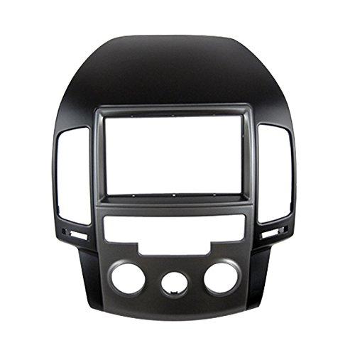 Feeldo Voiture 2DIN radio Façade Cadre manuel AC LHD coréen stéréo visage Panneau Dash Trim Kit