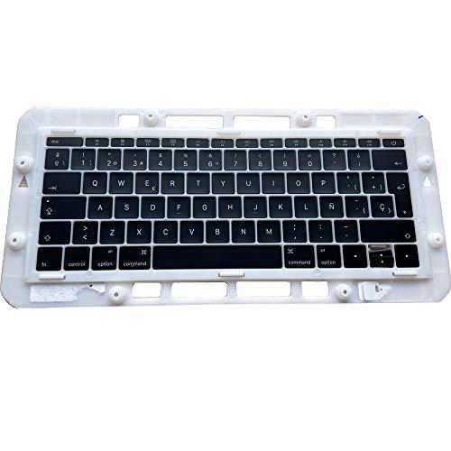 OLVINS Juego de Teclas de Repuesto SP Teclas en español Teclas QWERTY para MacBook Pro Retina 13'A1708 Teclas de Teclado en español